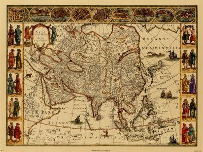 Antique Maps III-Willem Janszoon Blaeu-Art Print