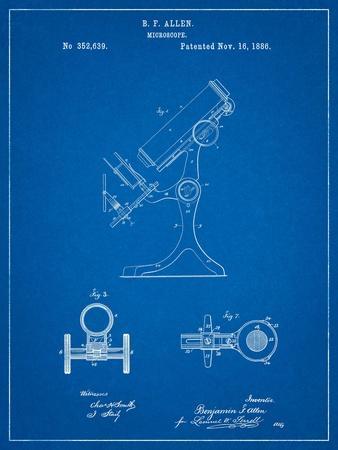 Antique Microscope Patent-Cole Borders-Art Print