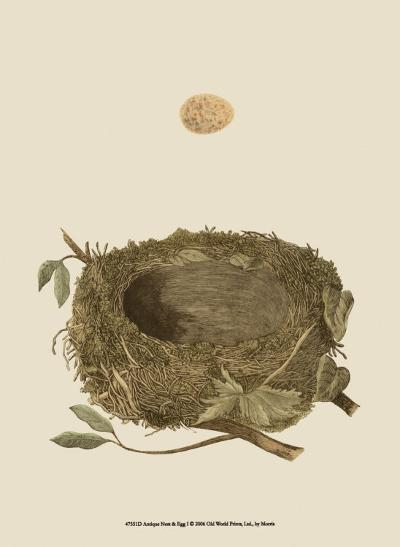 Antique Nest and Egg I-Reverend Francis O^ Morris-Art Print