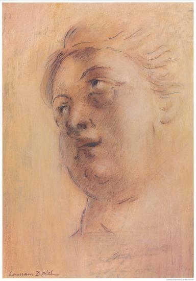 Antique Portrait II-Lewman Zaid-Art Print