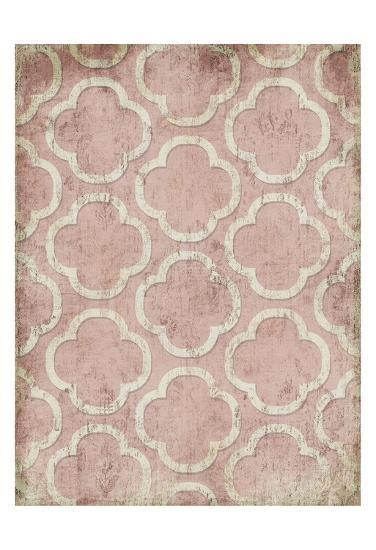 Antique Reverse Rose Wall Mate-Jace Grey-Art Print