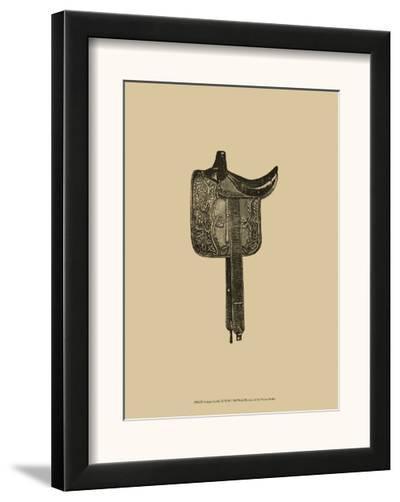 Antique Saddle III--Framed Art Print