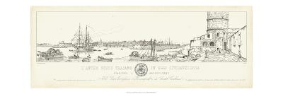 Antique Seaport III-Antonio Aquaroni-Art Print