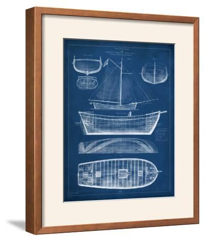 Antique Ship Blueprint II-Vision Studio-Framed Photographic Print