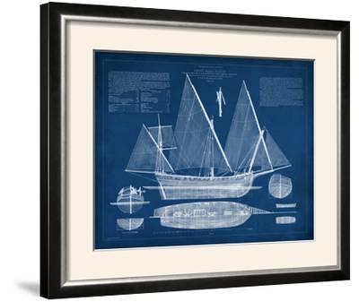 Antique Ship Blueprint III-Vision Studio-Framed Photographic Print