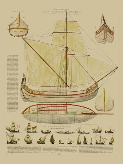 Antique Ship Plan I-Vision Studio-Art Print