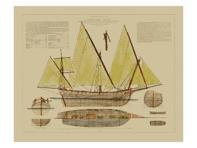 Antique Ship Plan V-Vision Studio-Art Print
