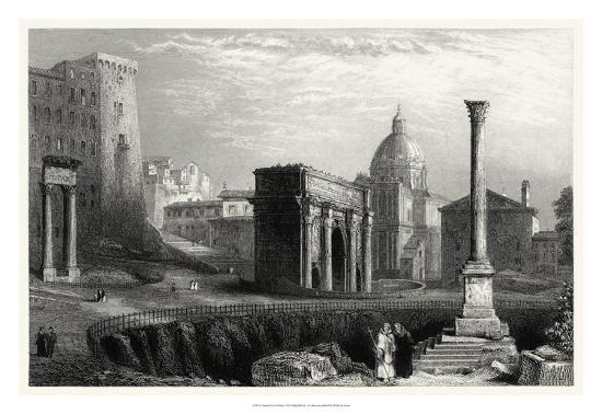 Antique View of Rome-Unknown-Giclee Print