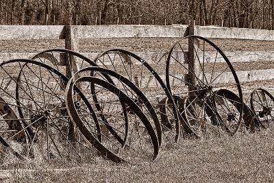 Antique Wagon Wheels I-C^ McNemar-Photographic Print
