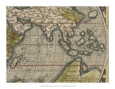 Antique World Map Grid VI-Vision Studio-Giclee Print