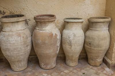 Antiques Clay Water Pots Decorate the Entrance to Le Jardin Des Biehn-Richard Nowitz-Photographic Print