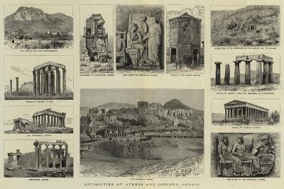 Antiquities at Athens and Corinth, Greece--Giclee Print