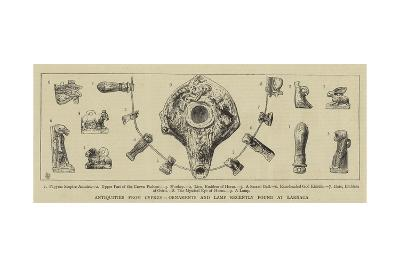 Antiquities from Cyprus, Ornaments and Lamp Recently Found at Larnaca--Giclee Print