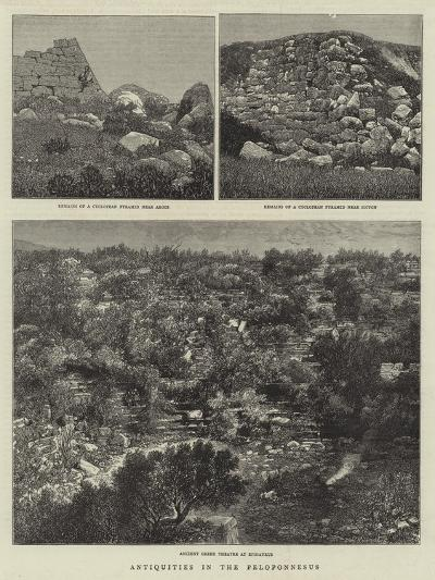 Antiquities in the Peloponnesus--Giclee Print