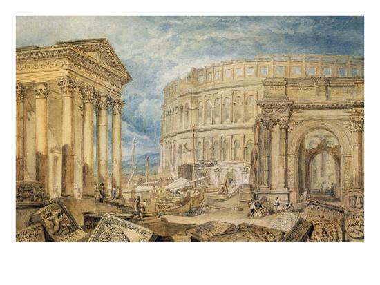 Antiquities of Pola, c.1818-J^ M^ W^ Turner-Giclee Print