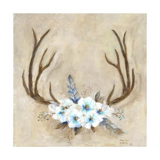 Antlers and Flowers-Marilyn Dunlap-Photographic Print