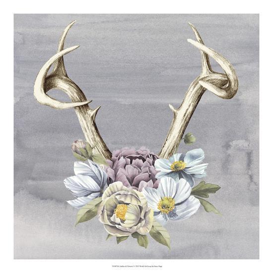 Antlers & Flowers I-Grace Popp-Art Print