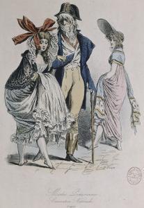 "Modes parisiennes ; ""Merveilleuses et Incroyables"" by Antoine Charles Horace Vernet"