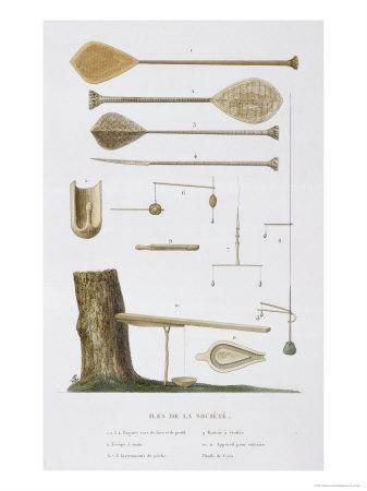 Society Islands: Pangas, Fishing Hooks and Other Tools