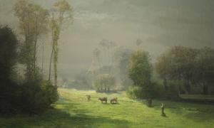 Le soleil chasse le brouillard by Antoine Chintreuil