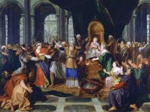 Athaliah Expelled from the Temple, Painted before 1697 by Antoine Coypel