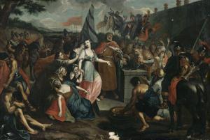 Le sacrifice de la fille de Jephté by Antoine Coypel