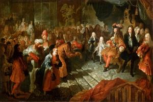 Louis XIV Receiving the Persian Ambassador in the Galerie Des Glaces at Versailles by Antoine Coypel