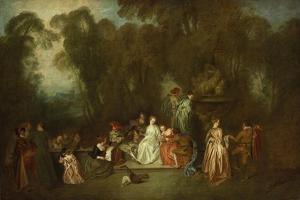 Party in the Park by Antoine Coypel