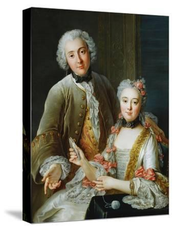 Portrait of Francois De Jullienne Standing Beside His Wife, Seated, C.1743