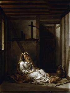Saint Thaïs in Her Cell by Antoine Coypel