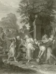 The Meeting of Eliezer and Rebecca at the Well by Antoine Coypel