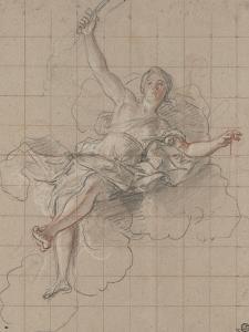 Thémis ou la justice couchée sur des nuages by Antoine Coypel