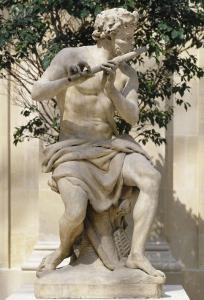 Faune jouant de la flute dit aussi Berger jouant de la flute by Antoine Coysevox