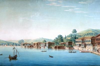 Vue De La Partie Occidentale Du Village De Buyuk-Déré Ca. 1803-1809 by Antoine Ignace Melling