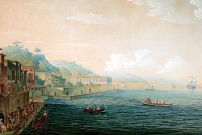 Vue De Village De Tarapia on the Bosporus Ca. 1803-1809 by Antoine Ignace Melling