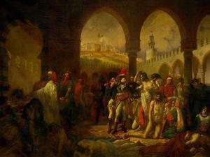 Bonaparte Visits the Plague-Ridden of Jaffa, Painted 1804 by Antoine-Jean Gros