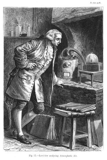 Antoine Laurent Lavoisier, French Chemist, Investigating the Existence of Oxygen in the Air, 1873--Giclee Print