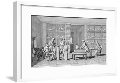 Antoine-Laurent Lavoisier Watching Lab Experiment--Framed Giclee Print