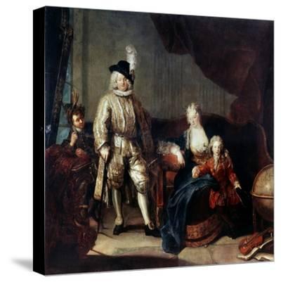 Portrait of Baron Von Erlach with His Family, C1710