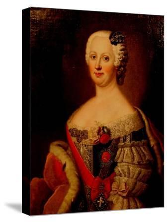 Portrait of Johanna-Elizabeth, Electress of Anhalt-Zerbst (1712-176), Mother of Catherine II, 1740s