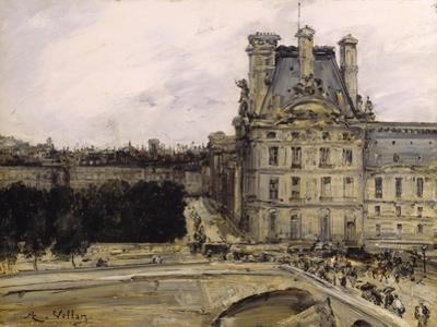 A Corner of the Louvre, 1885-1900 by Antoine Vollon