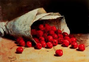 A Spilled Bag of Cherries by Antoine Vollon