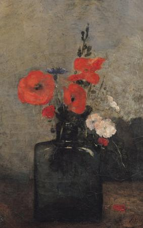 Flowers, 1857 by Antoine Vollon