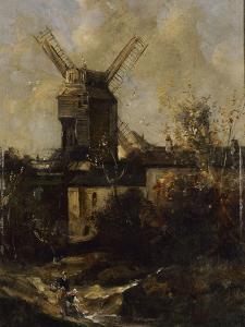 Le Moulin de la Galette, à Montmatre by Antoine Vollon