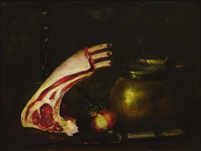 Still Life with Cutlets by Antoine Vollon