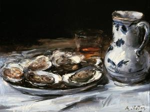 Still Life with Oysters, 19th Century by Antoine Vollon