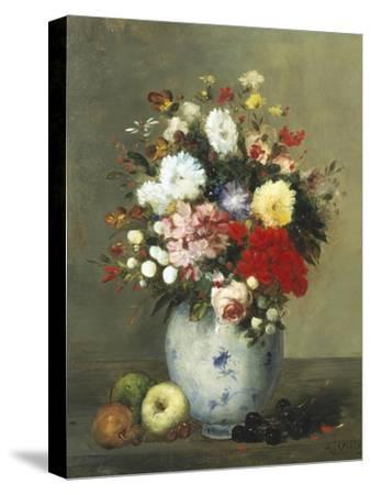 Still Life with Summer Flowers and Fruit