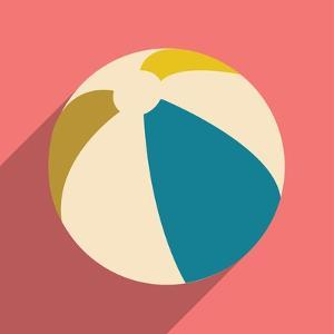 Flat with Shadow Icon and Mobile Application Beach Ball by Anton Gorovits