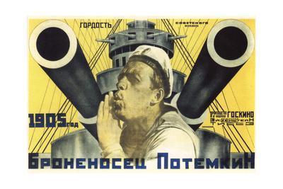 Poster for the Film the Battleship Potemkin, 1926