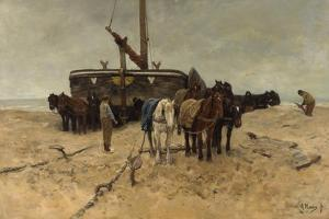 Fishing Boat on the Beach, 1882 by Anton Mauve